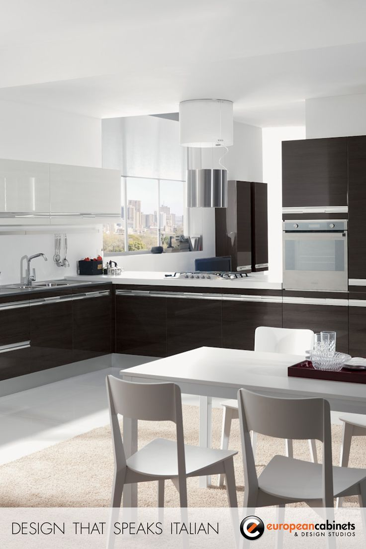 Gray lacquered kitchen cabinets modern kitchen - Dark Brown Lacquer Kitchen Cabinets From Tenes Evo One Of Our Best Selling Collections