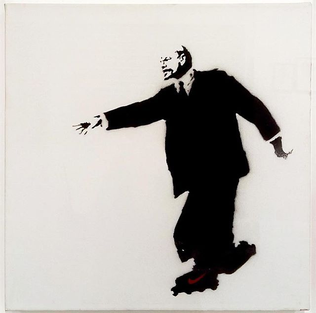 Lenin on Skates, 2003 @ Banksy