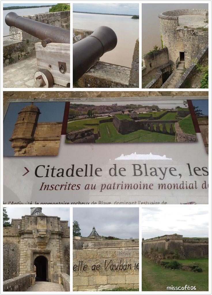 de l'estuaire de la Gironde se dresse la citadelle de Blaye,  vu par Vauban.