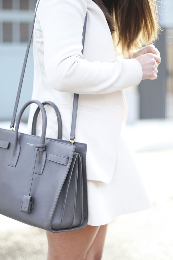 saint laurent small sac de jour in grey - definitely the best investment piece I've ever splurged on.