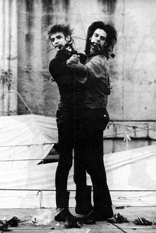 Blixa Bargeld and Nick Cave