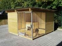 "Hundezwinger, 2 Wände ganz, 2 Wände halb geschlossen, ""Home"""