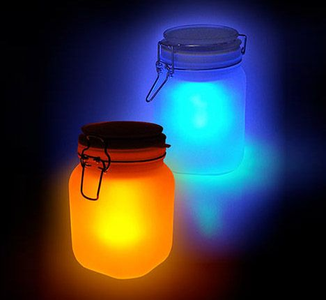 Easy kit for kids to do too.  Collects solar energy during the day, and glows for 5 hours.  :)
