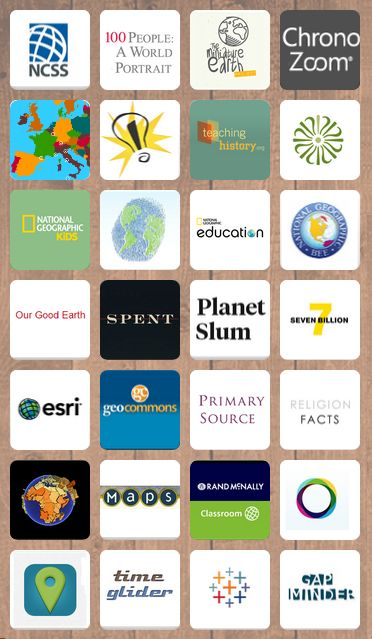 Websites for teaching all aspects of social studies: history, culture, geography, economics. Apps, maps, references, videos, and more.