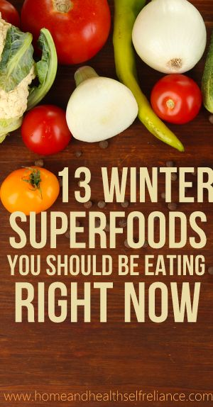 Your garden might be done, but here are 13 Winter #Superfoods You should be eating right now! http://DrHardick.com