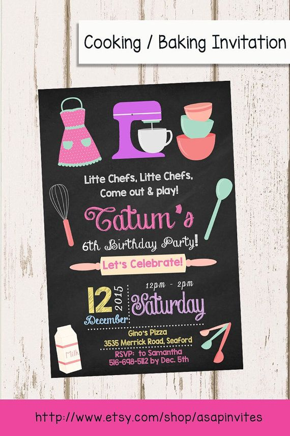 36 best Pie party images – Kids Cooking Party Invitations