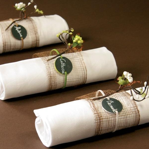 """Serviettenband """"Namenstafel"""" - raffinierte Dekoidee für Ihre Hochzeit! - weddix"""