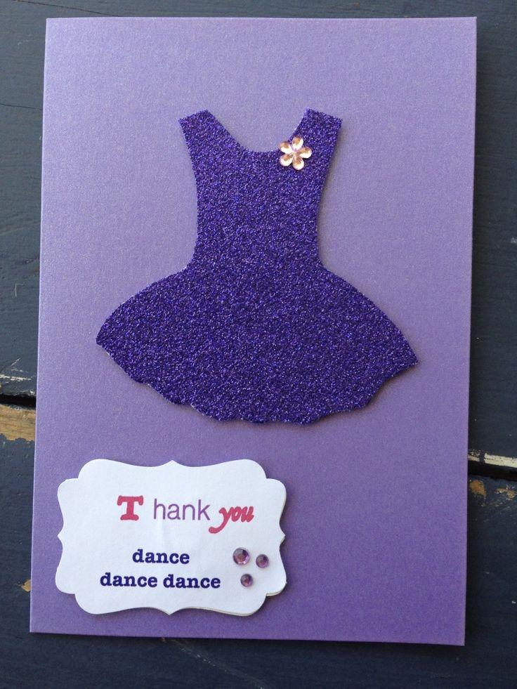 Handmade Ballet Teacher Thank You Card