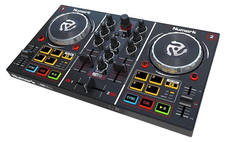 DJ Mixer Controller Equipment USB Mix Starter Kit With Sound Card