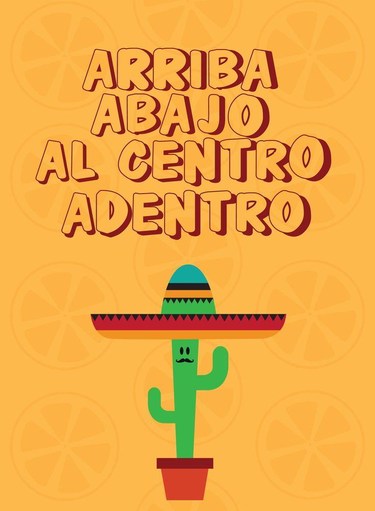 Poster Arriba... com moldura | Dependure | Elo7