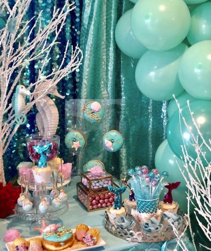 Under The Sea Birthday Party With Images Sea Birthday Party