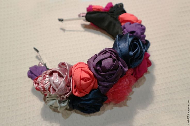 Купить Ободок - стильное украшение, ободок для волос, ободок с цветами, ободок с розочками, украшение для волос