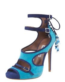 TABITHA SIMMONS Fish-Charm Corseted Strappy Sandal