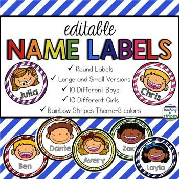 Personalize your students' cubbies, desks, bulletin boards, folders/notebooks, centers and so much more with this set of versatile and adorable name labels. My students love their personalized labels! You can customize the labels so many ways!