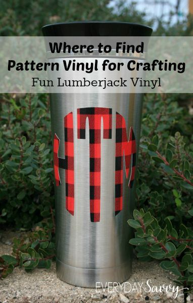 Find Pattern Vinyl for Crafting with Silhouette Cricut and More - Where to find the best printed craft vinyl sheets and supplies. Plus tips and tricks on how to use vinyl with electronic cutting machines. Fun prints like polka dots, stripes, florals, camos, anchors, plaids and more. We made a few fun projects with pattern vinyl and included some resources to help you find pattern vinyl and other vinyl graphics supplies, plus some tips and tricks on how to use it.