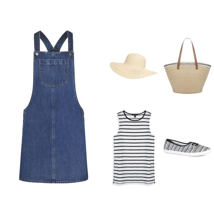Check out the outfit I created on the Primark website @primark #primarkoutfitbuilder #primarkoutfitchallenge http://m.primark.com/en-us/outfits/47339,denim-jumper #denim #jumper #stripes #sneakers #sun