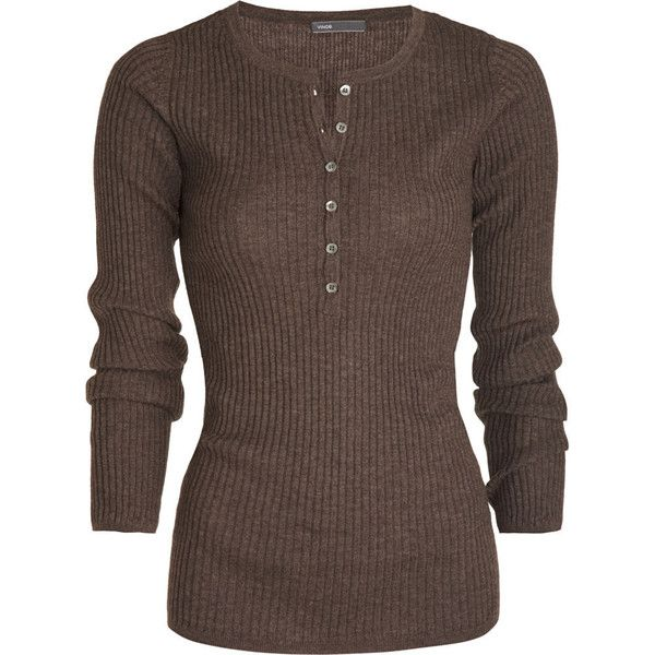 Ribbed Henley 169 Liked On Polyvore Featuring Tops