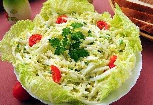 Салат из китайской капусты - Рецепты салатов из китайской капусты -