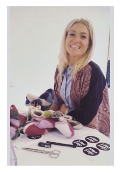 Christiane Schaumberg-Müller looks great in our beautiful pure silk robe Day Anglian from our AW14 collection.