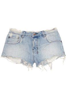 Ksubi Alberceque distressed denim shorts $200 via NET-A-PORTER #shopping #fashion #style
