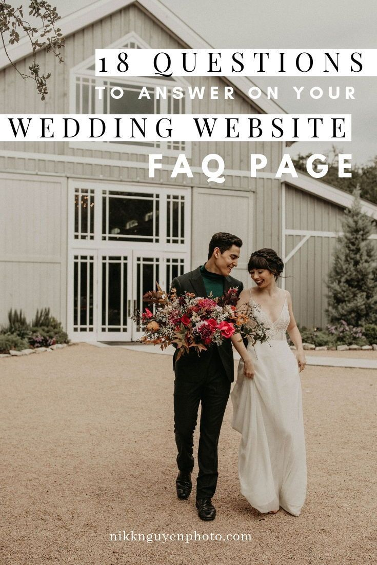 18 Questions To Answer On Your Wedding Website Faq Page Nikkolas Nguyen Wedding Website Wedding Wedding Advice