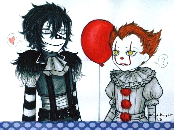 Laughing Jack and Pennywise! by Smokertongas-arts