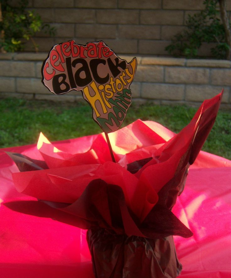 Black history celebration centerpieces my events ccc