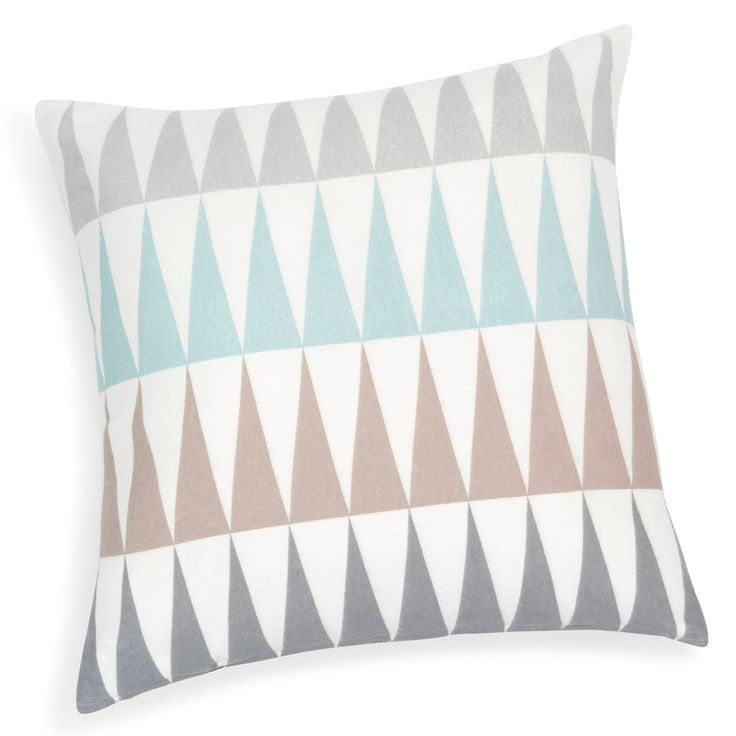 TRENDY cotton cushion, blue, 50 x 50 cm | Maisons du Monde