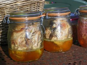 Conserves viandes et volailles. Volailles et lapins au naturel (3h) Volailles et lapins cuisinés (2h) Porc et veau au naturel (3h) Toutes viandes cuisinées (2h30) Pâtés (2h30)
