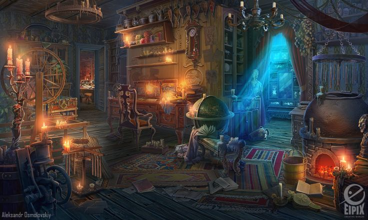 Candle maker shop - game scene by aleksandr-osm