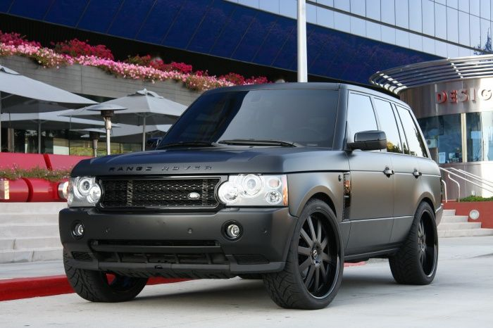 Matte Black Range Rover Youd have to get the blacked out rims