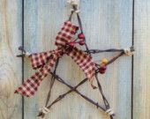 Items similar to Barbwire Star Ornament  Barbed wire by Rusticpatriotgirl on Etsy on Etsy