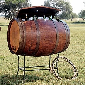 Kings Ranch Saddle Shop Wine Barrel Cooler and Stand $820. (+$320 shipping). Cool idea. Very pricey. Must wait for a sale! ( with free shipping ;) ). C.
