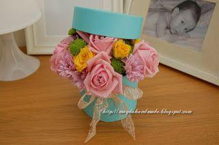 Aranjament floral in cutiuta / Floral arrangement in a box