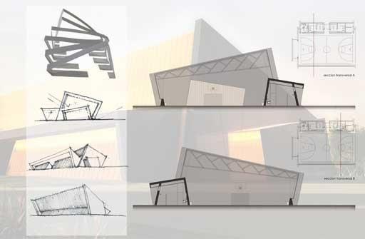 A-cero presenta el proyecto para un polideportivo A-cero Tech!
