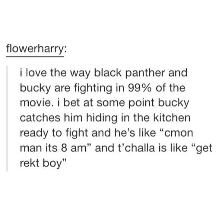 Tumblr  Bucky Barnes  T'challa  Black Panther  Marvel  Civil War