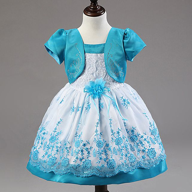 Baby Girl Wedding Dress Lace Princess Bmbroidery Birthday Dresses For Children Girls Clothes Kids frocks For 1 2 3 4 Years
