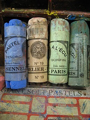 Sennelier Paris--- long ago I had some of these. Perhaps this time I will buy a new set in Paris...