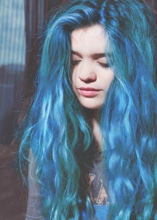 coloration cheveux bleue