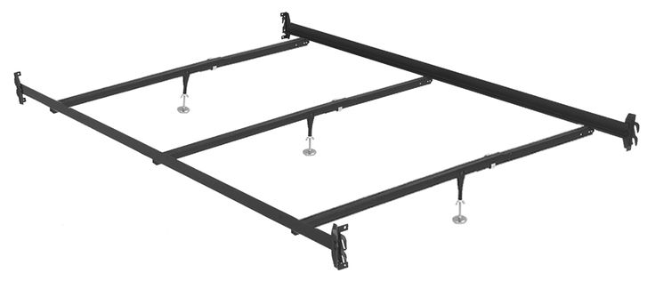 Queen bed rails with 3 center supports.