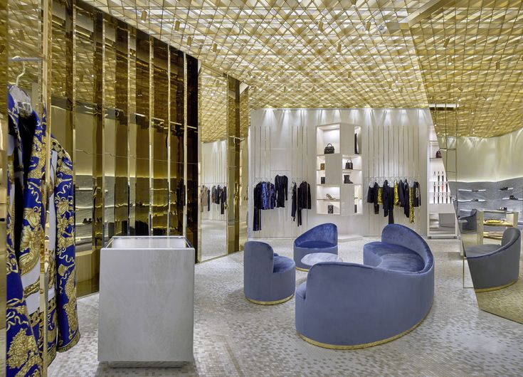 Curiosity Versace Miami Bal Harbour Showroom Interior Design Shop Interior Design Store Plan