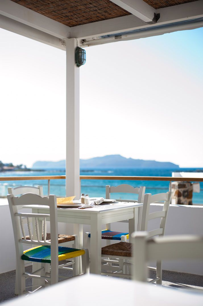 Ammos Hotel In Crete, Greece. View from the breakfast table......