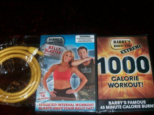 BARRY'S BOOTCAMP 2 DVD SET   GOLD BAND. BURN YOUR FAT FAST!