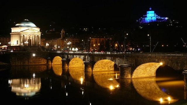 Torino, ponte Vittorio Emanuele (piazza Vittorio, Gran Madre)