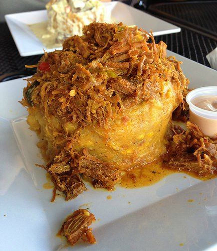 Instructions and tips on how to make mofongo. Mofongo is a traditional Puerto Rican fried plantain dish.