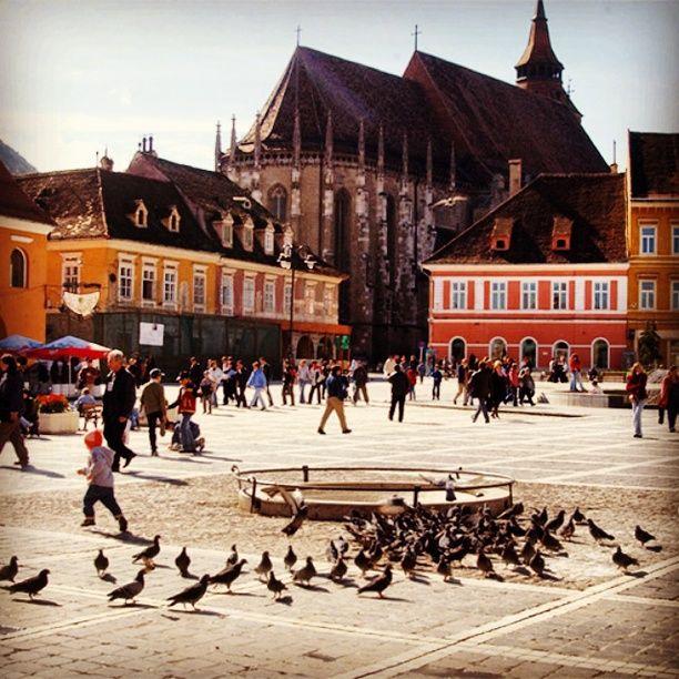 Brașov Council Square, Brașov, Romania - One of the most beautiful...