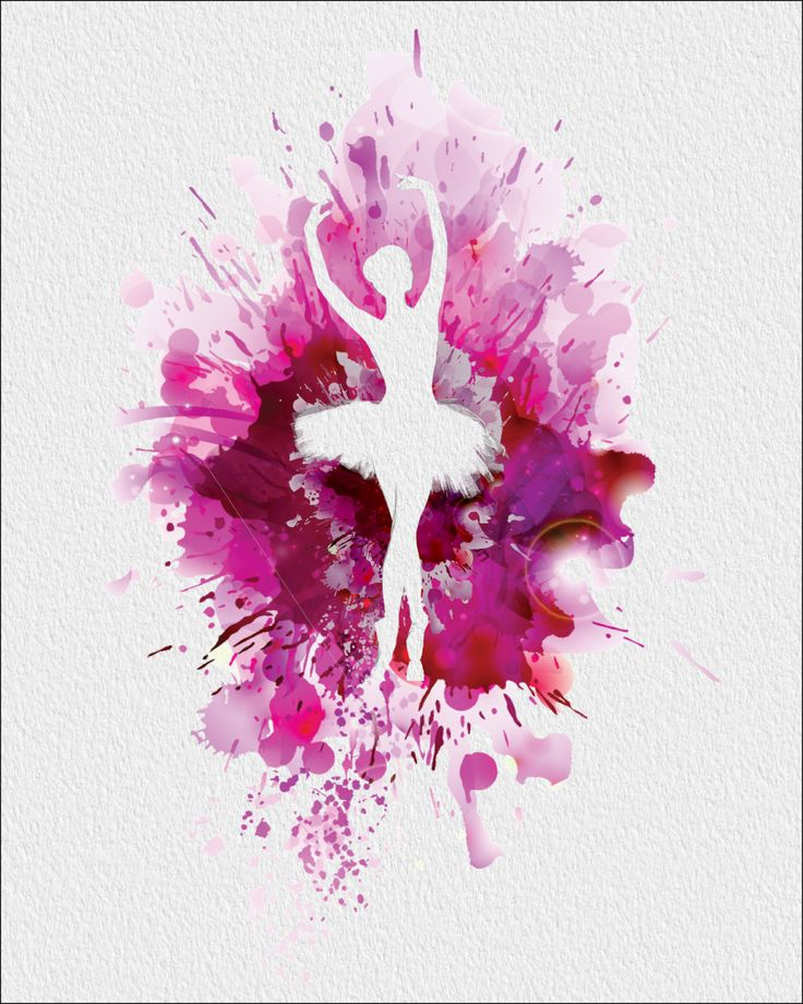 BALLERINA  Archival Watercolor Art Print  5 x от ImageDeSignStudio, $15,00