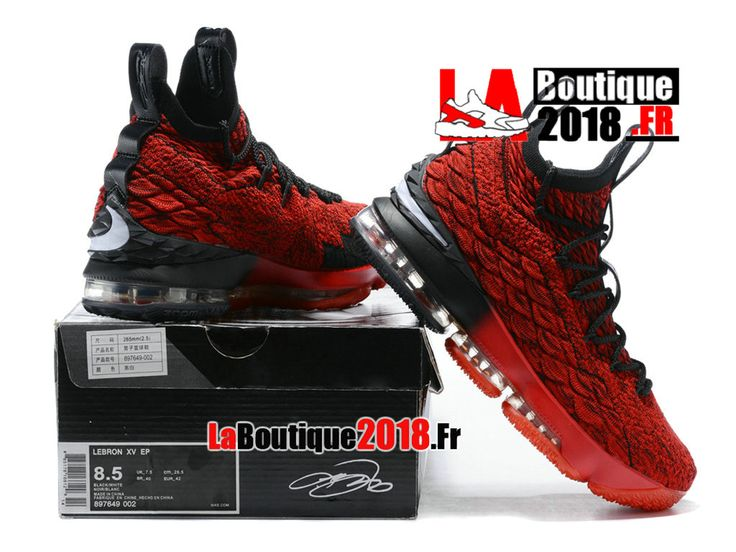 Chaussures Nike LeBron 15/XV Baskets Homme Rouge/Noir