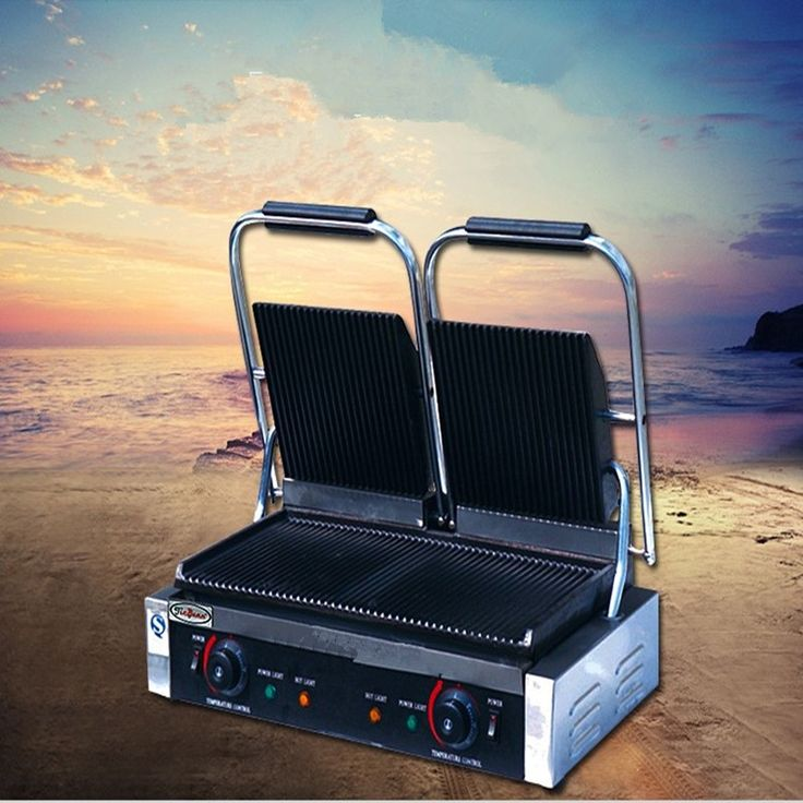 213.00$  Buy now - http://alingc.worldwells.pw/go.php?t=32739553475 - Commercial Grill Sandwich Maker Press Griddle Panini Grill Electric Grill Sandwich    ZF