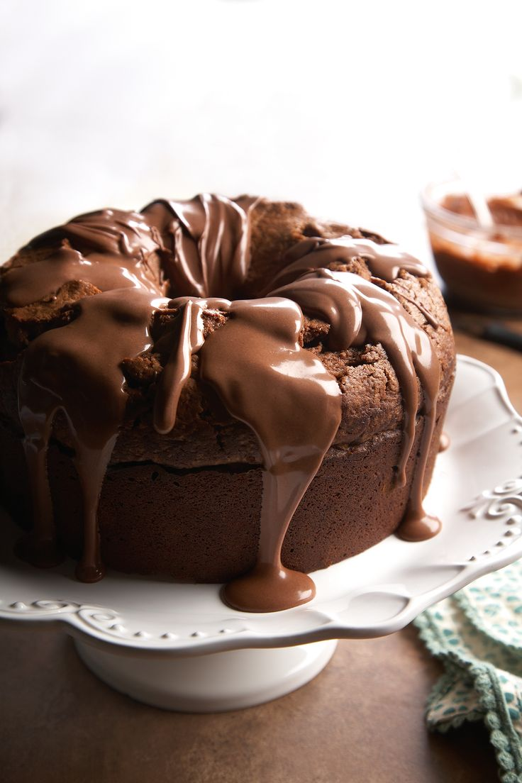 If you can't get enough chocolate, a drizzle of royal icing is a simple, easy complement to this dense, rich cake.